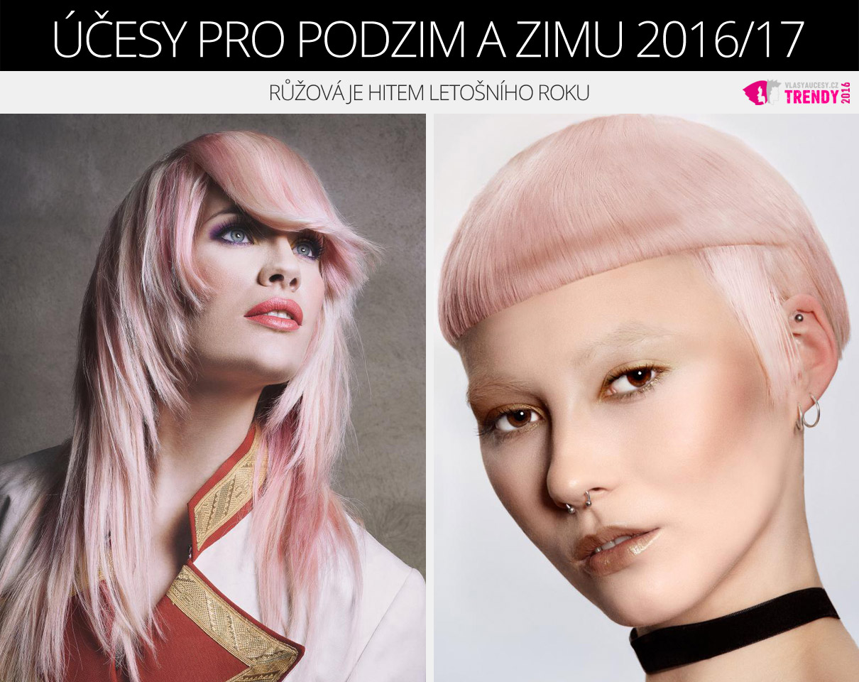Růžové vlasy v barvě roku 2016 jsou skvělou alternativou k blond vlasům.