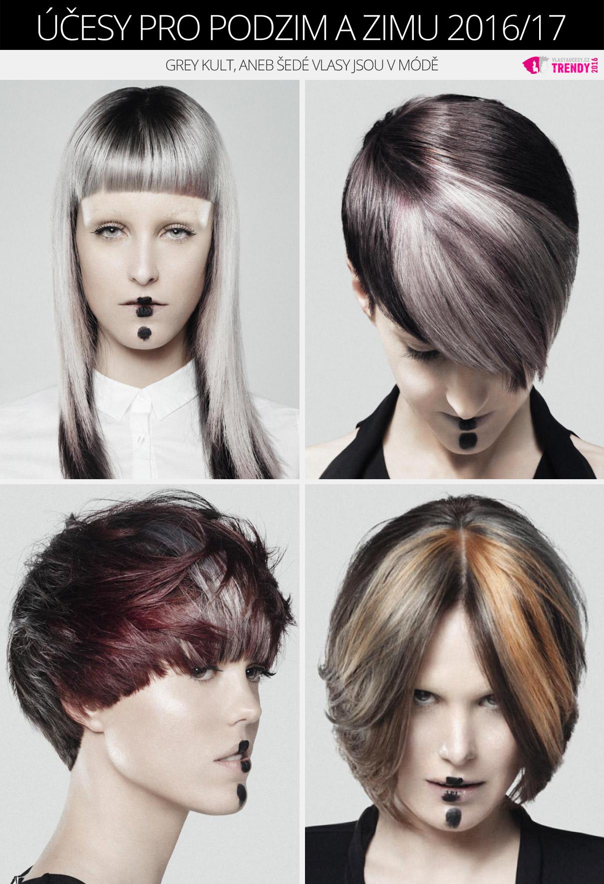 Šedé vlasy budou fascinovat i jako účesy pro podzimu a zimy 2016/2017. A variací mají skutečně mnoho!