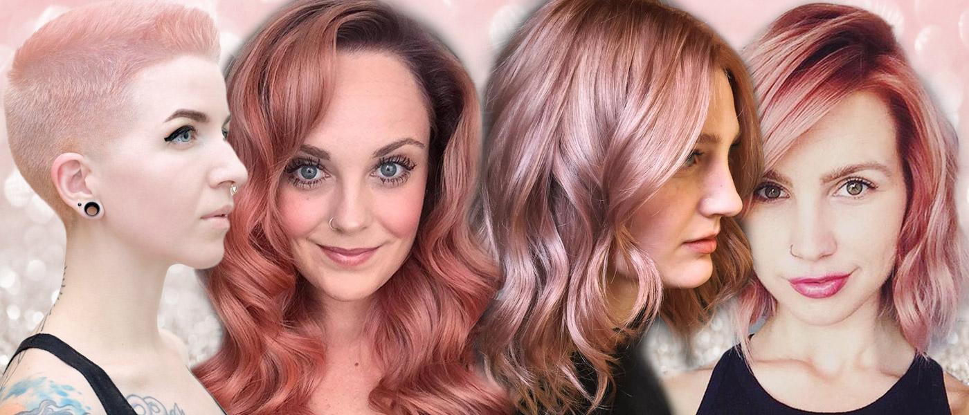 Růžové vlasy dokážou mít i jinou podobu, než řvavě neonovou nebo pastelovou barvu cukrové vaty. Trendem jsou rose gold hair v barvě růžového zlata.