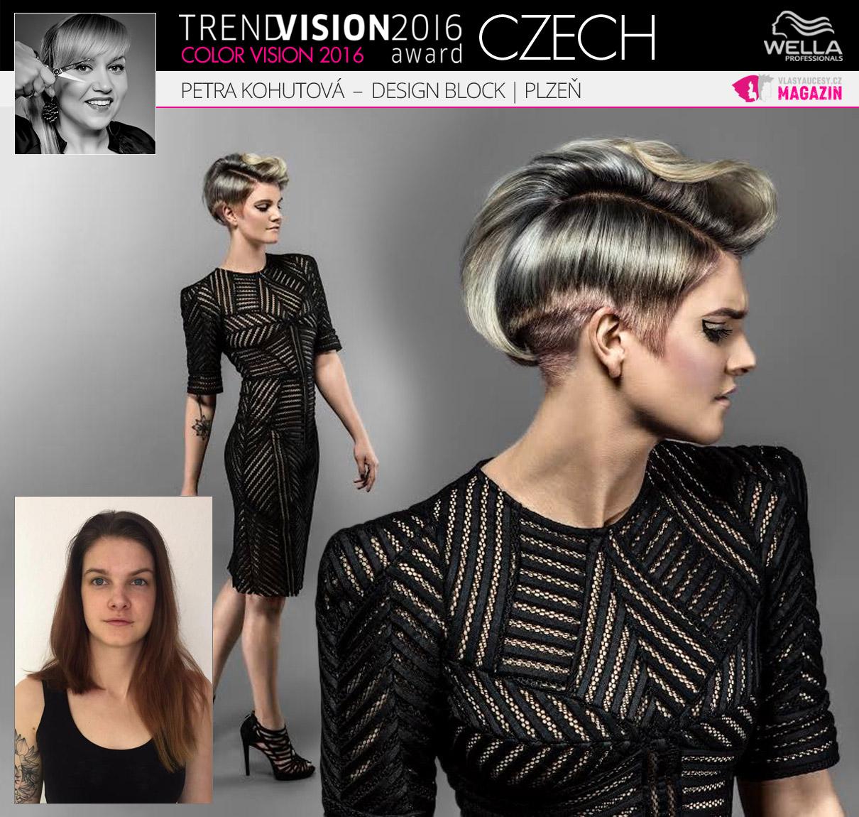 Petra Kohutová, Design Block, Plzeň –Wella Professionals Trend Vision Award Česká republika, kategorie Color Vision 2016.