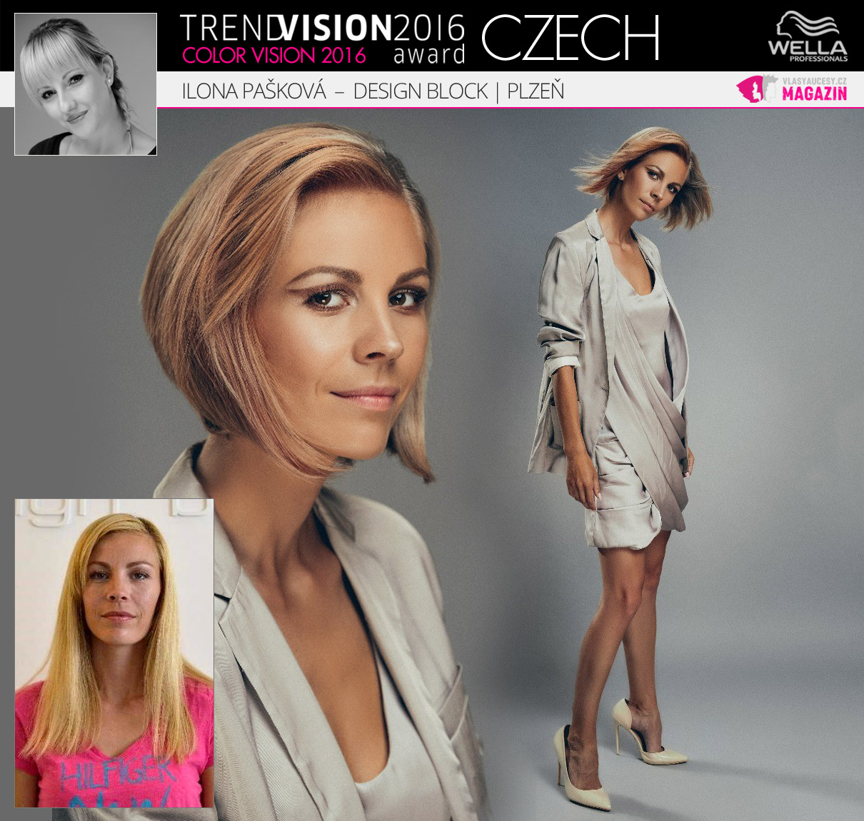 Ilona Pašková, Design Block, Plzeň –Wella Professionals Trend Vision Award Česká republika, kategorie Color Vision 2016.