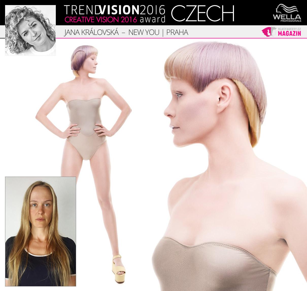Jana Královská, New You, Praha –Wella Professionals Trend Vision Award Česká republika, kategorie Creative Vision 2016.