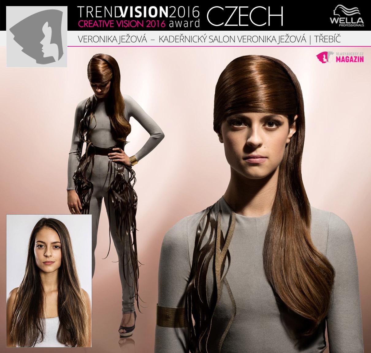 Veronika Ježová, Kadeřnický salon Veronika Ježová, Třebíč –Wella Professionals Trend Vision Award Česká republika, kategorie Creative Vision 2016.