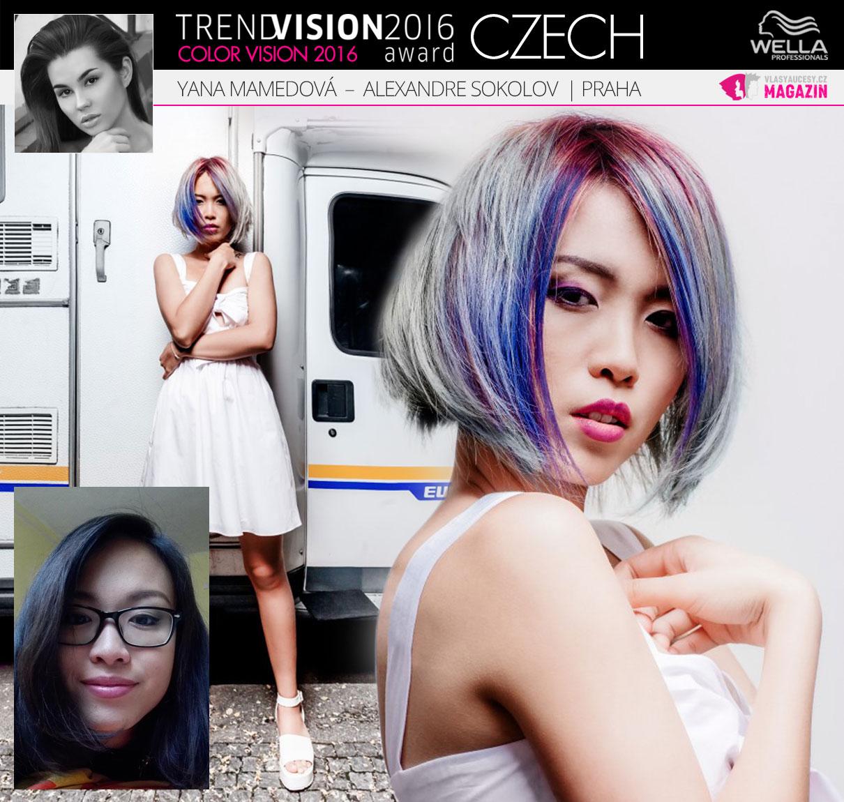 Yana Mamedova, Alexandre Sokolov studio de beauté, Praha –Wella Professionals Trend Vision Award Česká republika, kategorie Color Vision 2016.