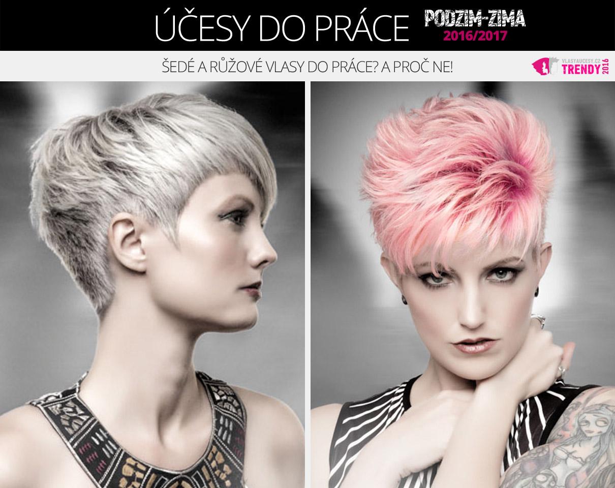 Šedé a růžové vlasy do práce? A proč ne!