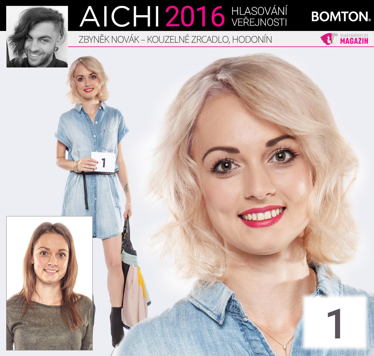 Finálová proměna AICHI 2016: Zbyněk Novák, kadeřnictví Kouzelné zrcadlo, Hodonín
