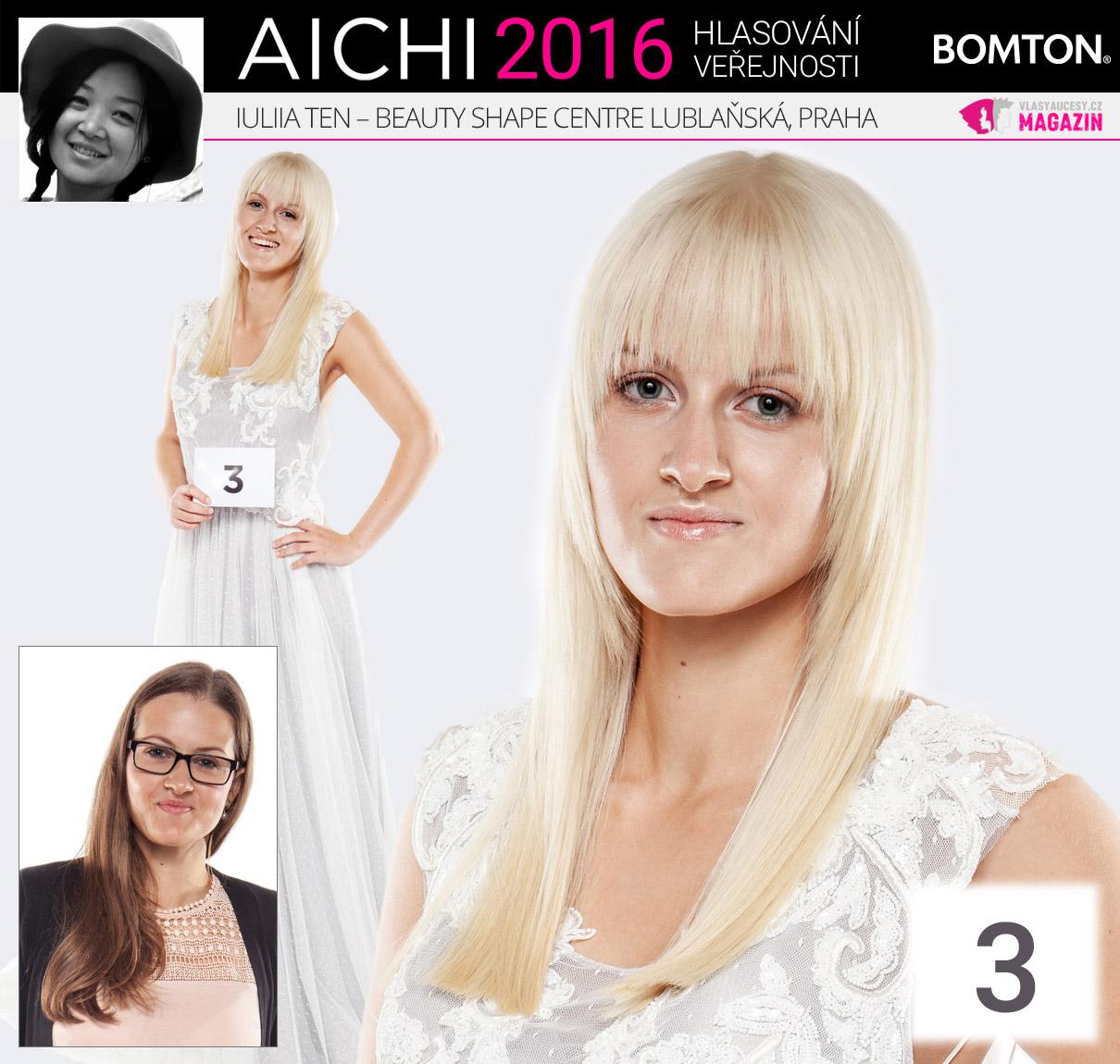 Finálová proměna AICHI 2016: Iuliia Ten, Beauty Shape Centre, Praha