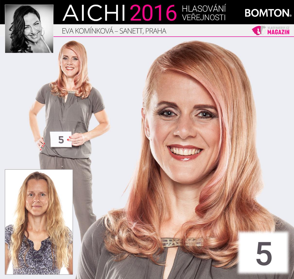 Finálová proměna AICHI 2016: Eva Komínková, Sanett, Praha