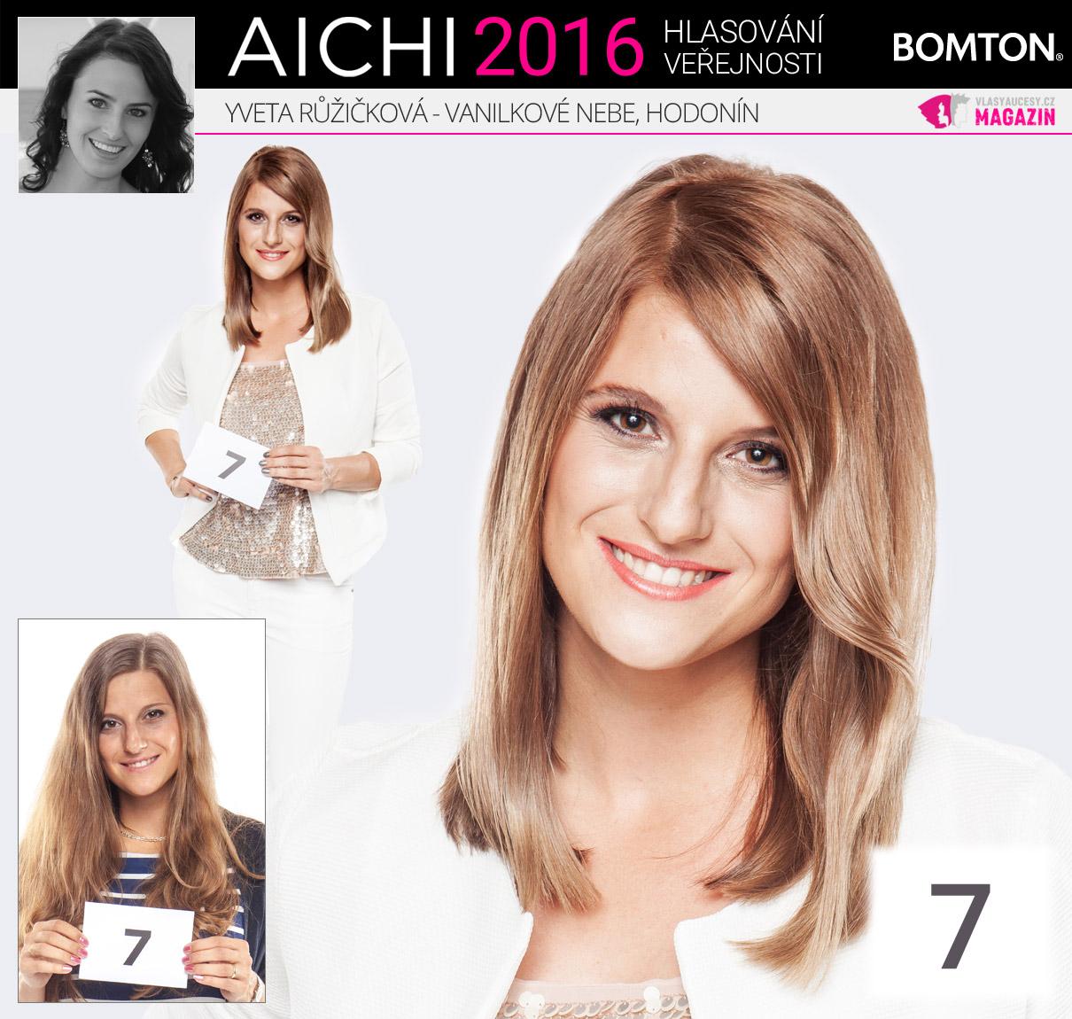 Finálová proměna AICHI 2016: Yveta Růžičková, Vanilkové Nebe, Hodonín