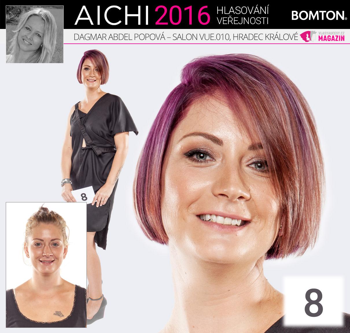 Finálová proměna AICHI 2016: Dagmar Abdel Popová, Salon VUE.010, Hradec Králové