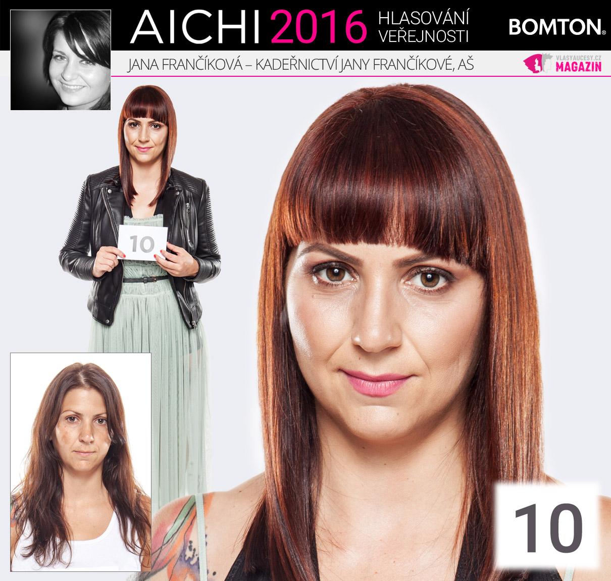 Finálová proměna AICHI 2016: Jana Frančíková, Kadeřnictví Jany Frančíkové, Aš