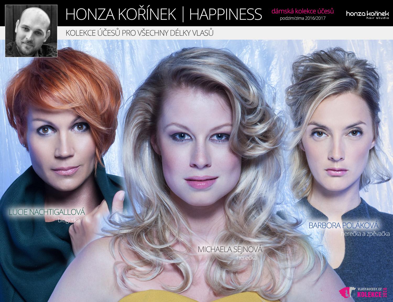 Happiness je kolekce účesů pro všechny délky vlasů