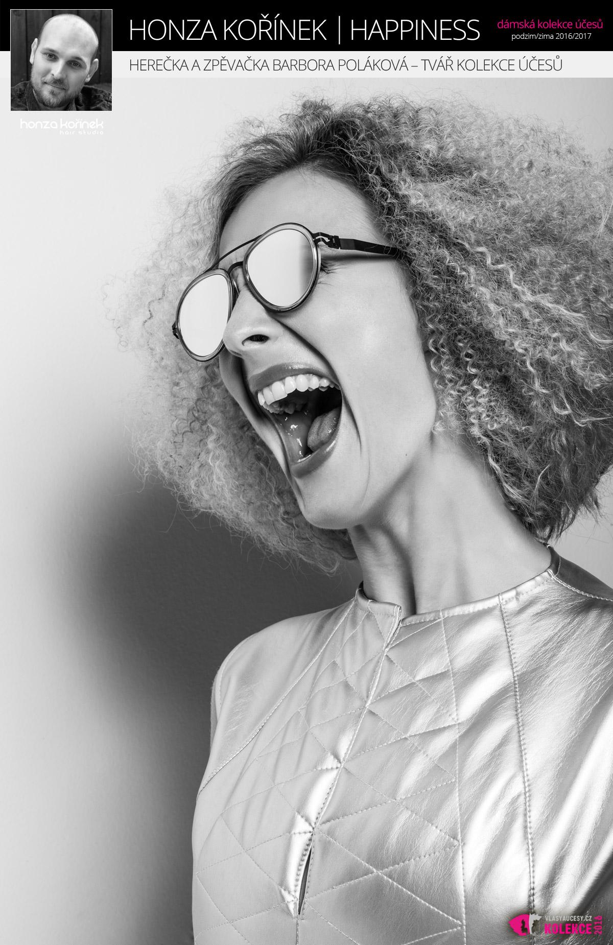 Herečka a zpěvačka Barbora Poláková, tvář kolekce Happiness by Honza Kořínek