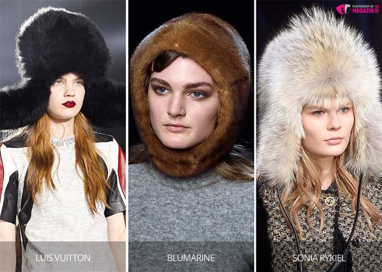Hlava letos snese trochu arktické inspirace. Nosí se chlupaté ušanky i kožešinové kukly.