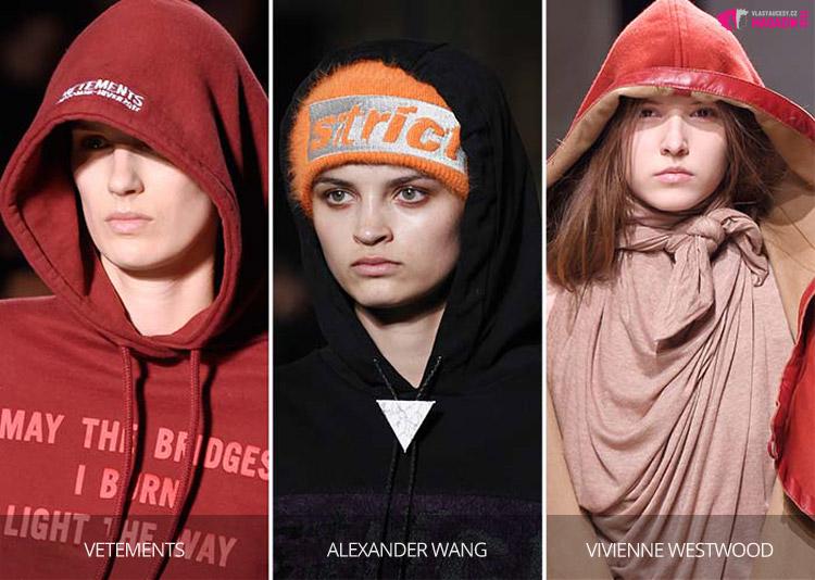 Kapuce na čepici nebo místo čepice – i to je fashion trend pro naše hlavy pro letošní podzim a zimu 2016/2017.