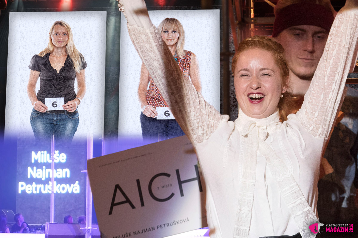 Druhé místo v soutěži AICHI 2016 obsadila Miluše Najman Petrušková z Atelier Glam v Praze.