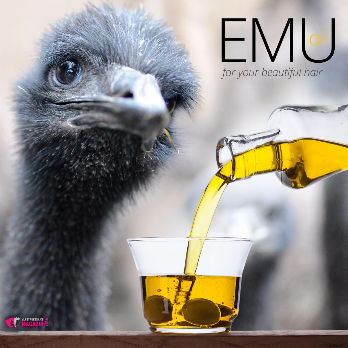 Olej Emu se získává rafinováním tuku z Emu australského. Olej je při rafinaci vystaven vysokým teplotám. Výsledkem je průsvitný, řídký a neutrální olej. Nemá žádnou specifickou vůni nebo chuť.