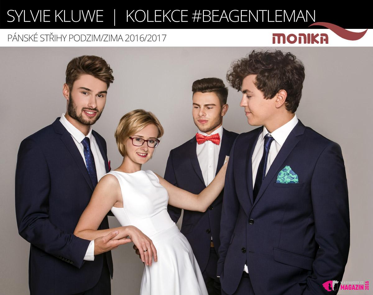 Gentlemani podle Sylvie Kluwe. Sylvie ztvárnila v kolekci #BeAGentleman tři pánské střihy.