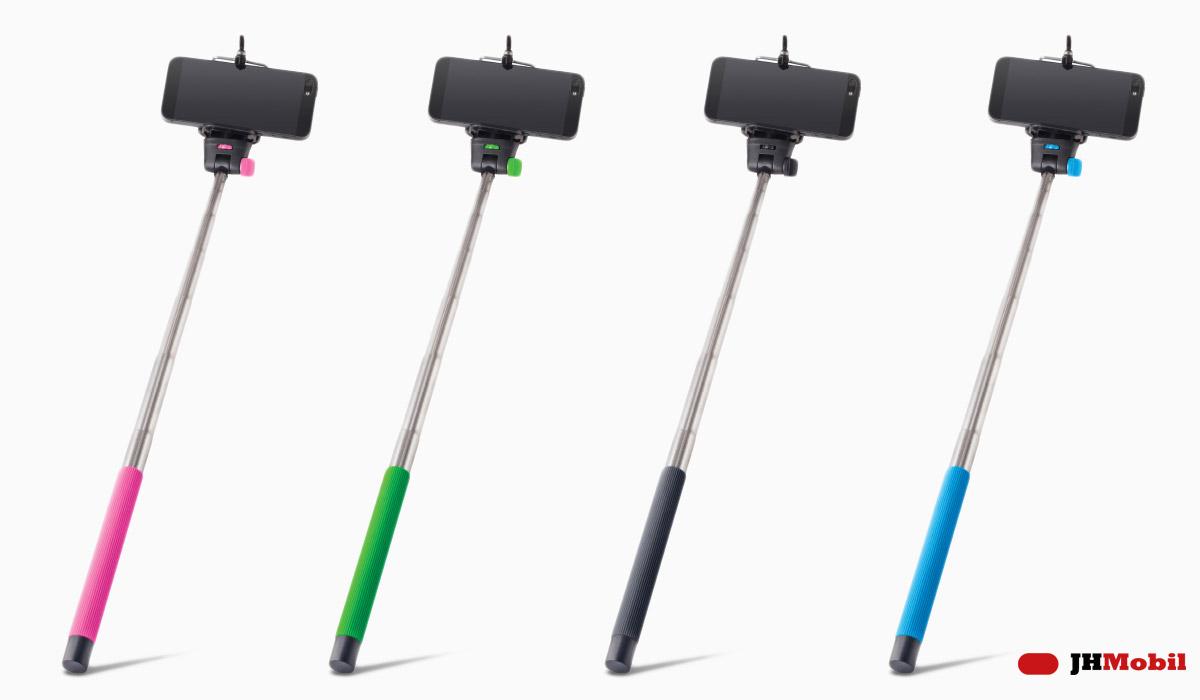 Selfie tyč MP-300 STANDART nejen v růžové barvě je univerzálním držákem pro pořizování selfie s maximální délkou vysunutí 100 cm.