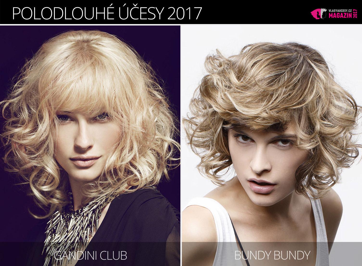 Tipy redakce magazínu Vlasy a účesy na trendy polodlouhé účesy zima 2017. Účesy pro polodlouhé vlasy 2017 jsou z kolekcí Gandini Club a Bundy Bundy.