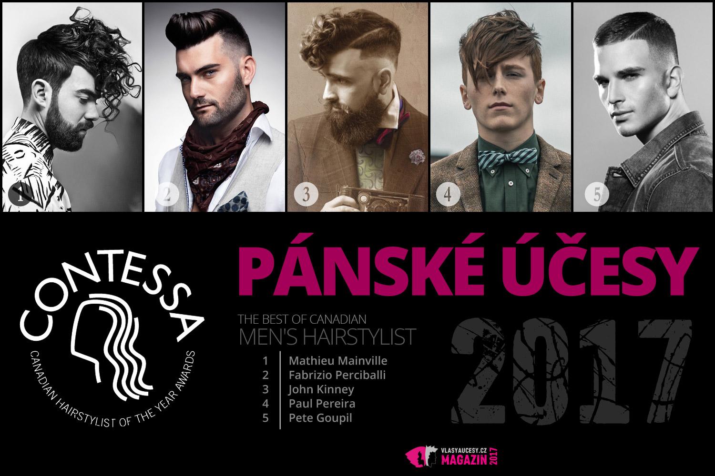 Do nového roku 2017 s novým účesem! Jenomže, co se vlastně nosí? Podívejte se na nejlepší pánské účesy 2017 z kadeřnické soutěže Contessa 2017.