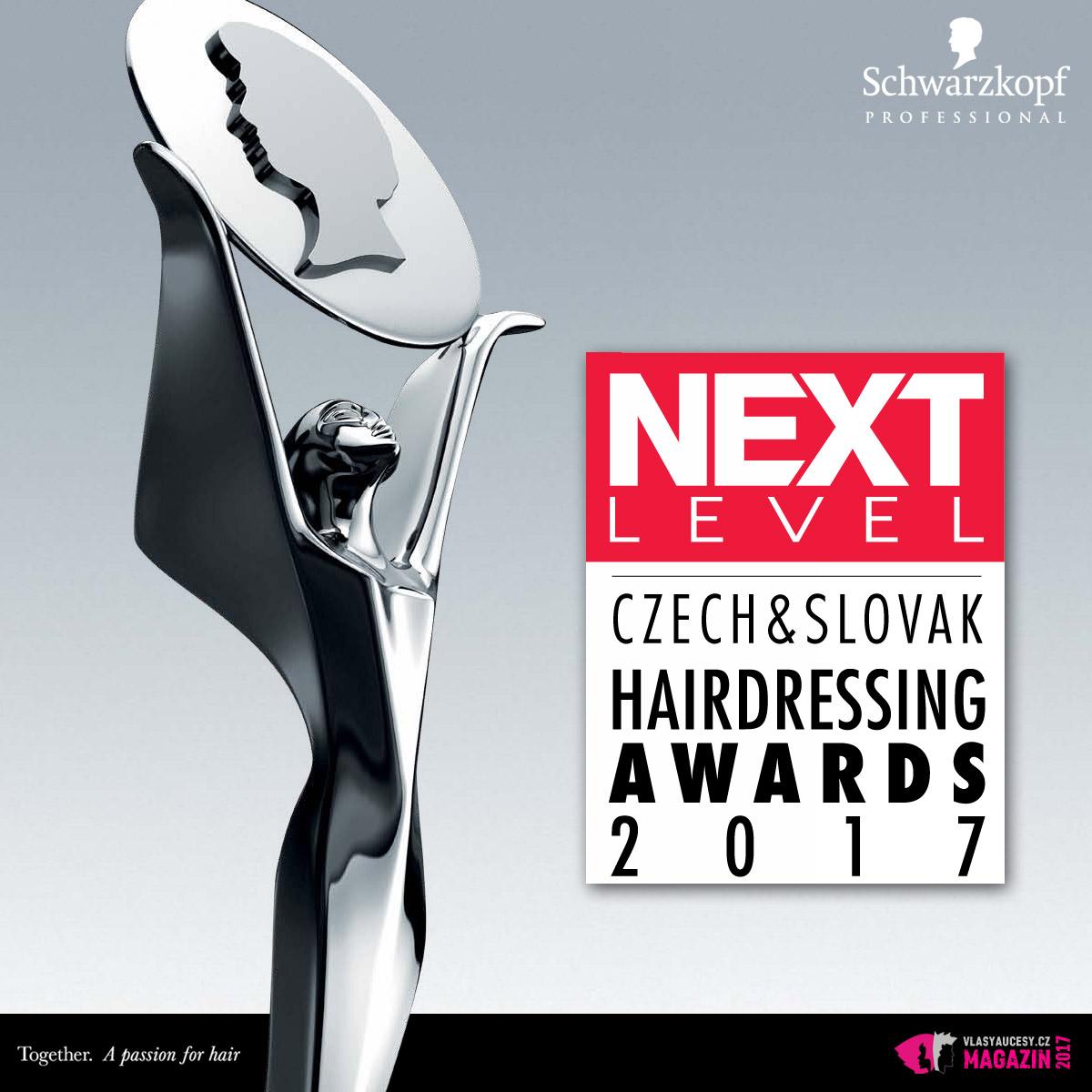 Nový, 15. ročník soutěže Czech and Slovak Hairdressing Awards 2017 známý i pod názvem Kadeřník roku 2017, startuje pod novým názvem Next Level 2017.