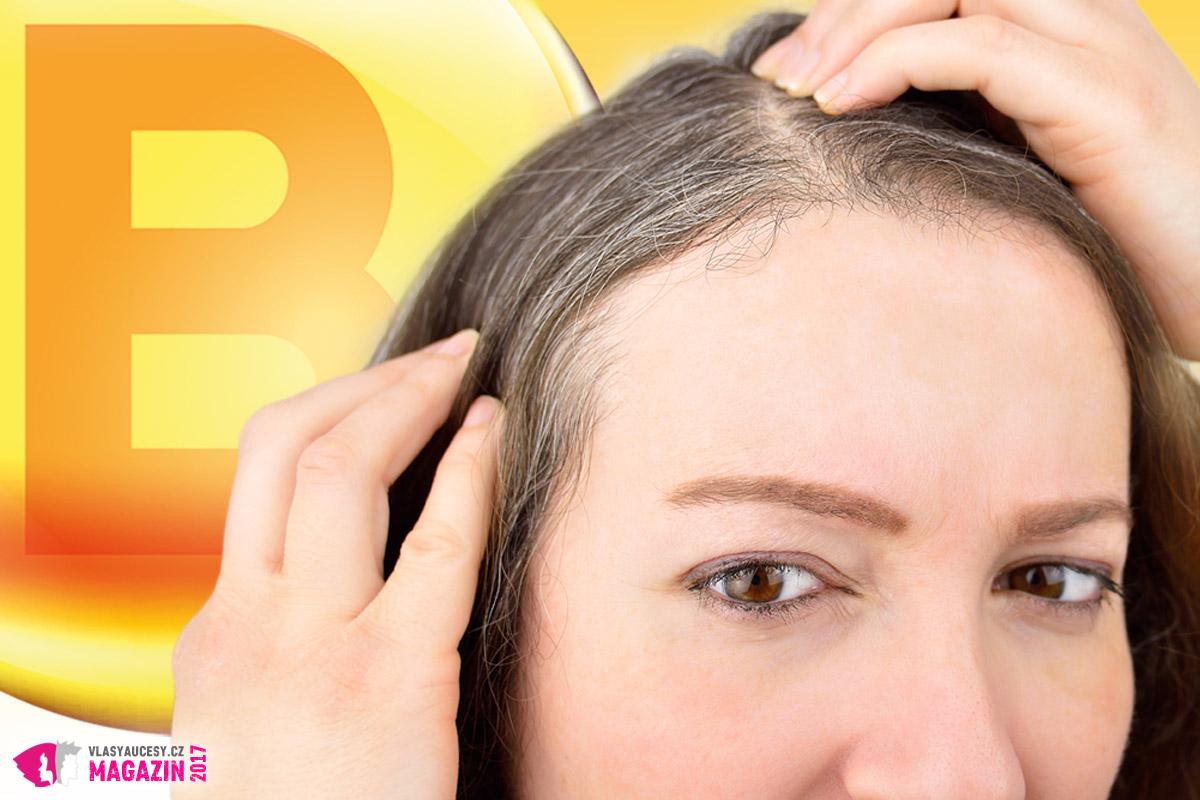 Padání vlasů i předčasné šediny mnohdy signalizují nedostatek vitamínů B.