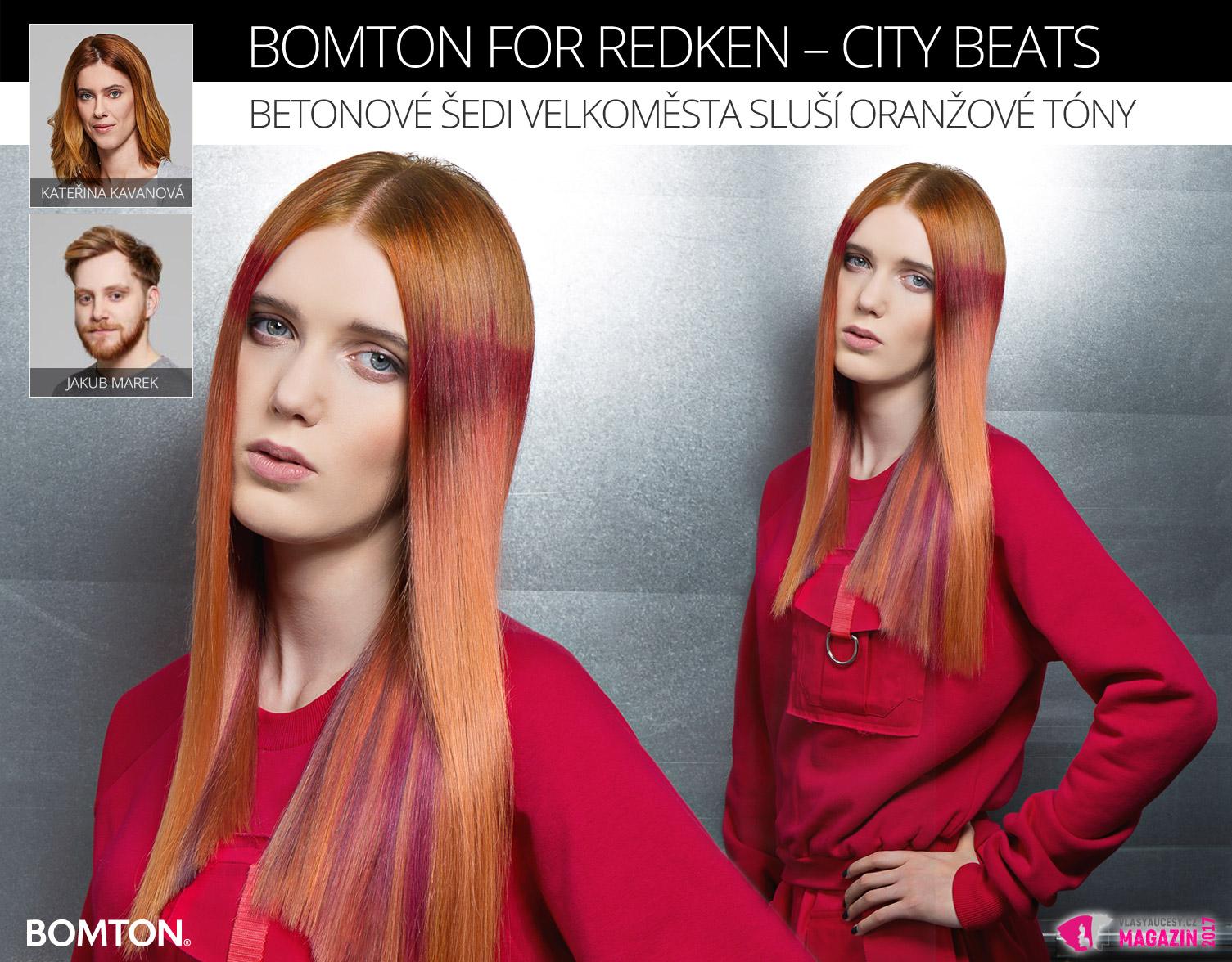 Účes Kateřiny Kavanové a Jakuba Marka z kolekce Bomton for Redken – City Beats.