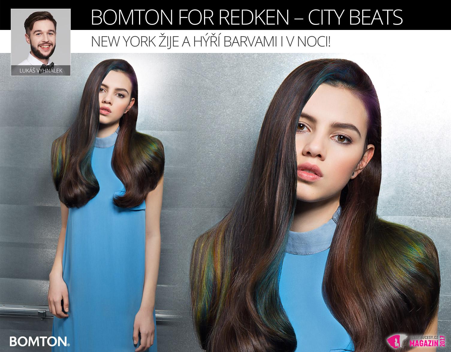 Účes Lukáše Vyhnálka z kolekce Bomton for Redken – City Beats.