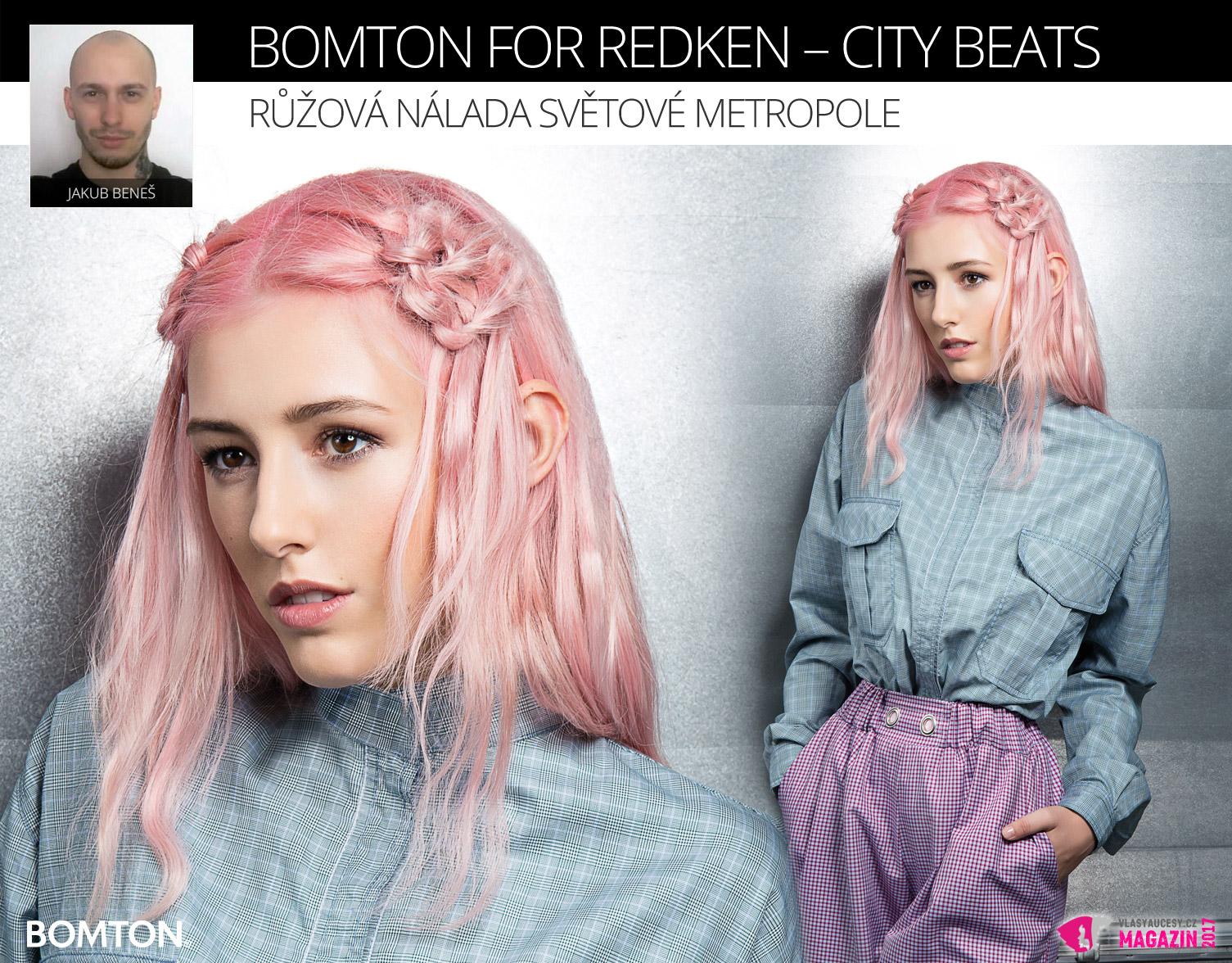 Účes Jakuba Beneše z kolekce Bomton for Redken – City Beats.