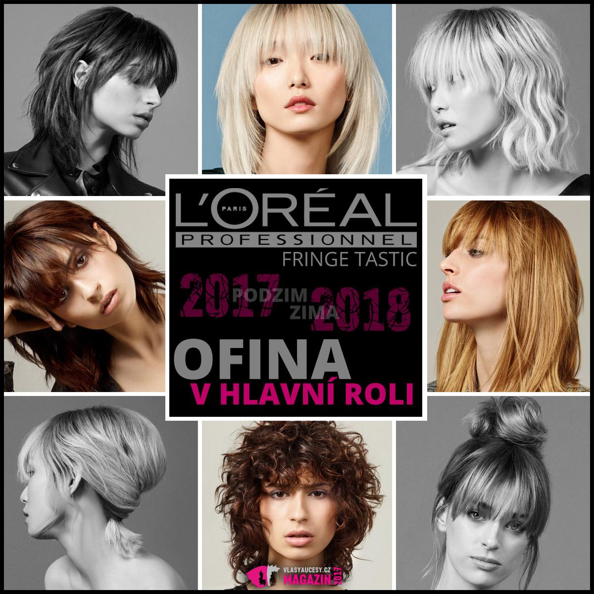 Mezinárodní kolekce s účesy L'Oréal Professionnel pro podzim/zima 2017/2018.