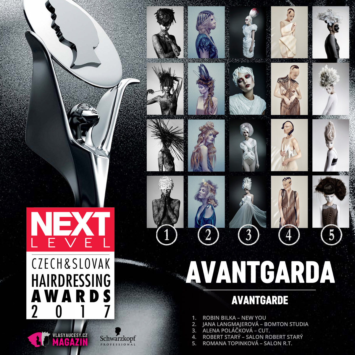Czech&Slovak Hairdressing Awards 2017 – kategorie Avantgarda.