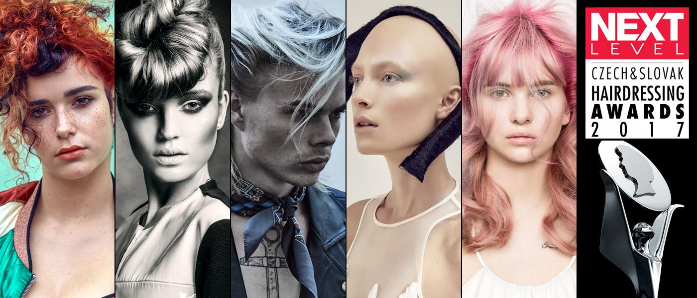 Podívejte se na nominace s kolekcemi účesů v kategorii Tým roku 2017 v Czech and Slovak Hairdressing Awards 2017 / Kadeřník roku 2017.