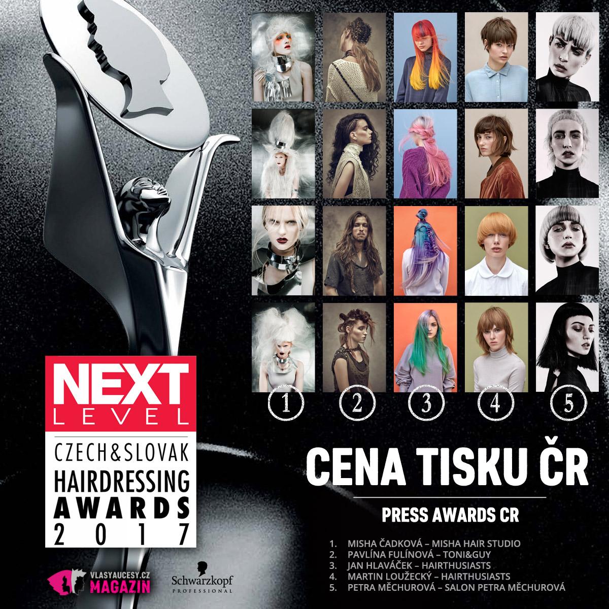 Czech&Slovak Hairdressing Awards 2017 – kategorie Cena tisku CZ 2017.