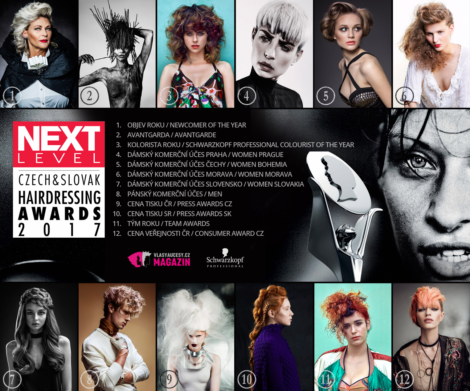 Czech and Slovak Hairdressing awards 2017 – Kadeřník roku 2017 vyhlásil nominace!