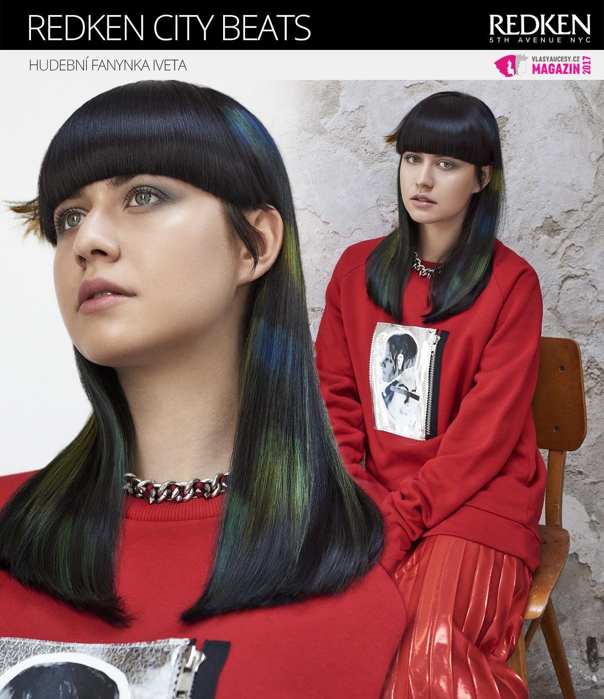 Barevné vlasy City Beats: Účes z nové kolekce Redken od Karla Dražana.