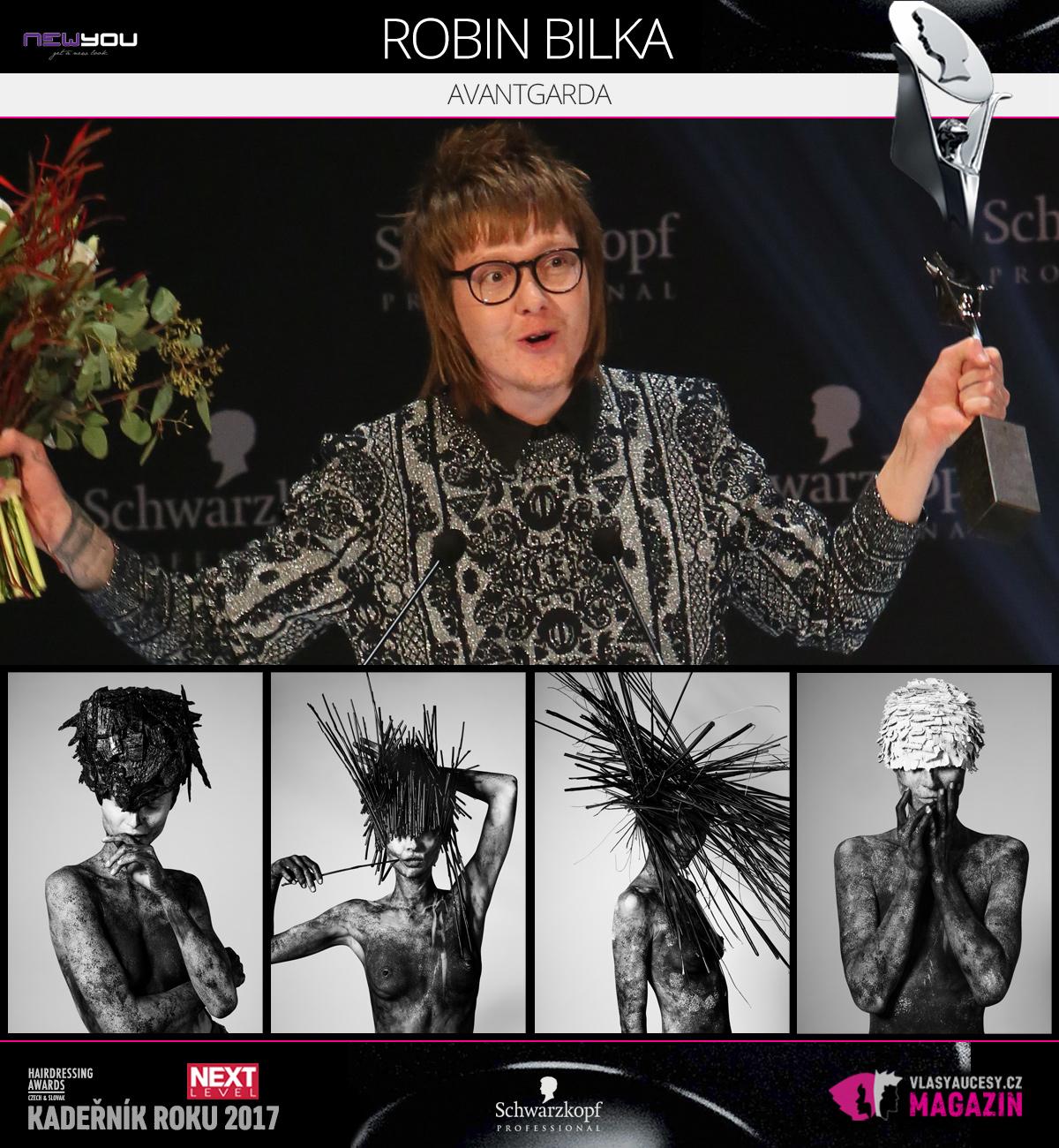 Robin Bilka (New You Praha) – Avangardní účes 2017 soutěže Czech&Slovak Hairdressing Awards 2017.