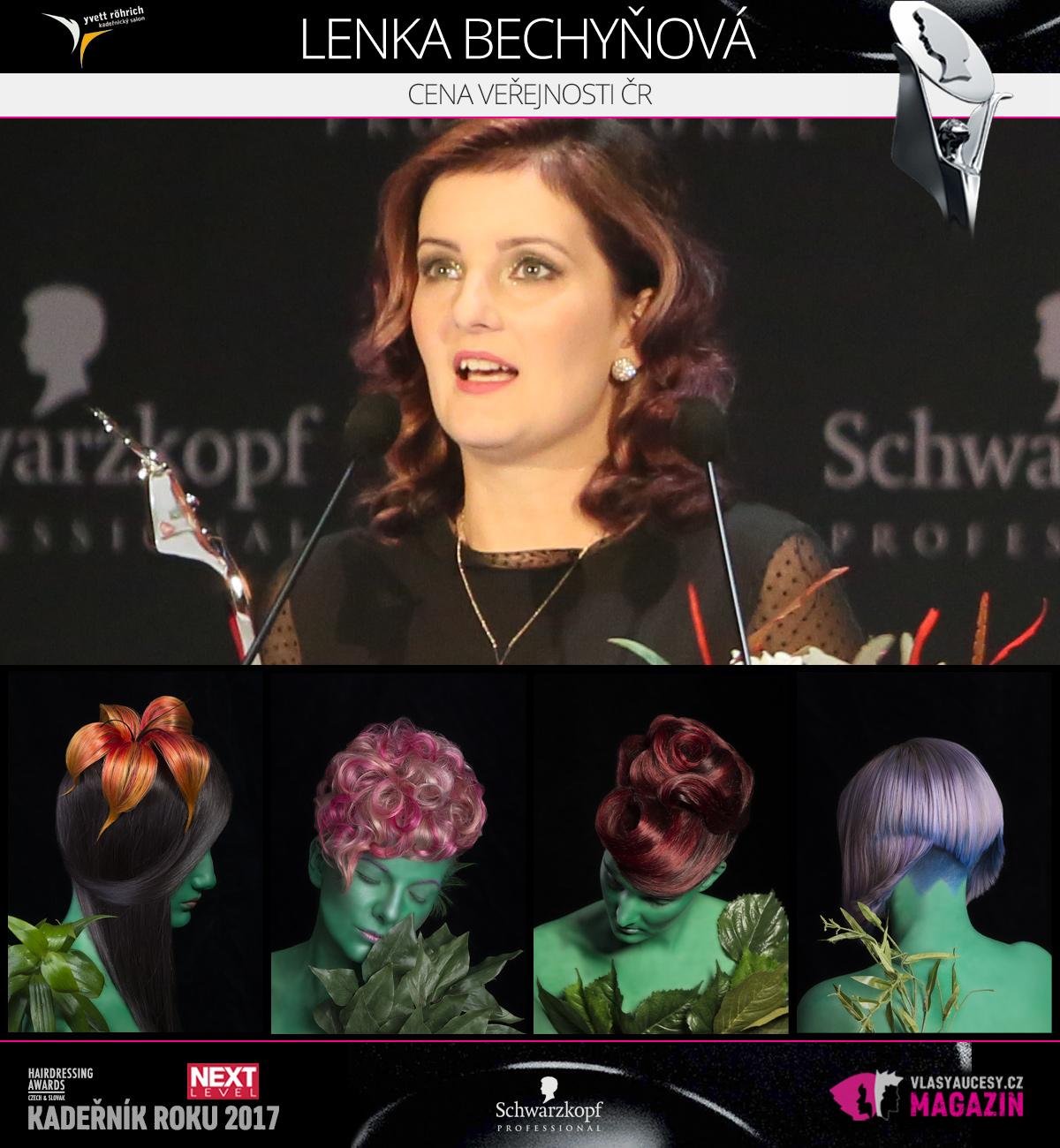 Lenka Bechyňová (Yvet Röhrich) – Cena veřejnosti CZ 2017 soutěže Czech&Slovak Hairdressing Awards.