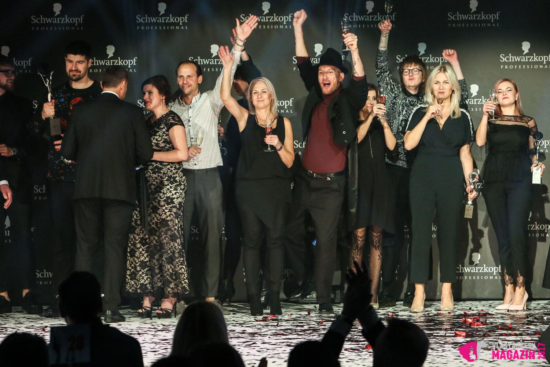 Galavečer Kadeřníka roku 2017: Takto se na pódiu těšili letošní vítězové Czech and Slovak Hairdressing Awards 2017.