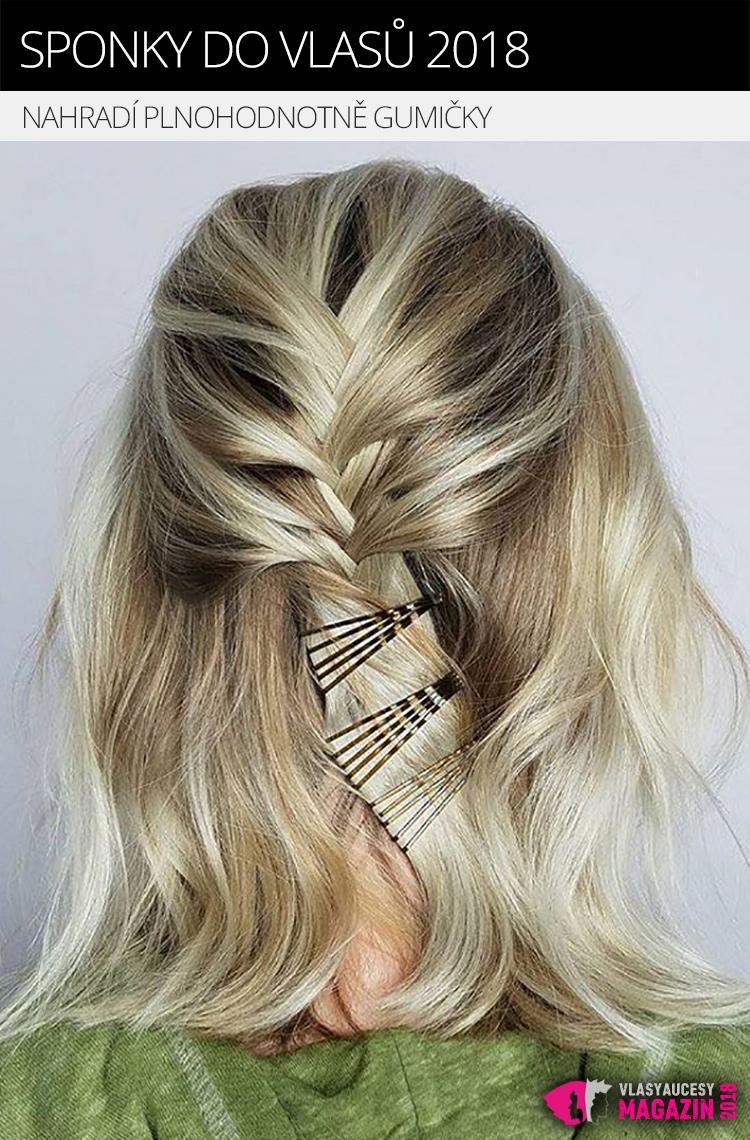 Sponky do vlasů nahradí plnohodnotně gumičky – a to nejen co do funkce, ale i do designu účesu.