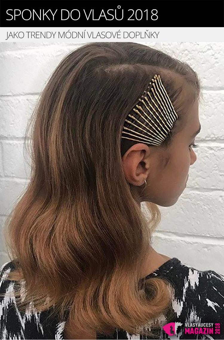 Sponky do vlasů pořád neztrácejí svoji funkci. Můžete je ale přiznat a využít i k nastylování účesu.