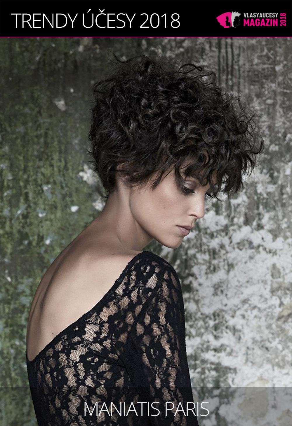 Hedvábné kudrny sluší všem délkám vlasů. (Maniatis Paris, Carré 4.0 Collection 2017-2018)
