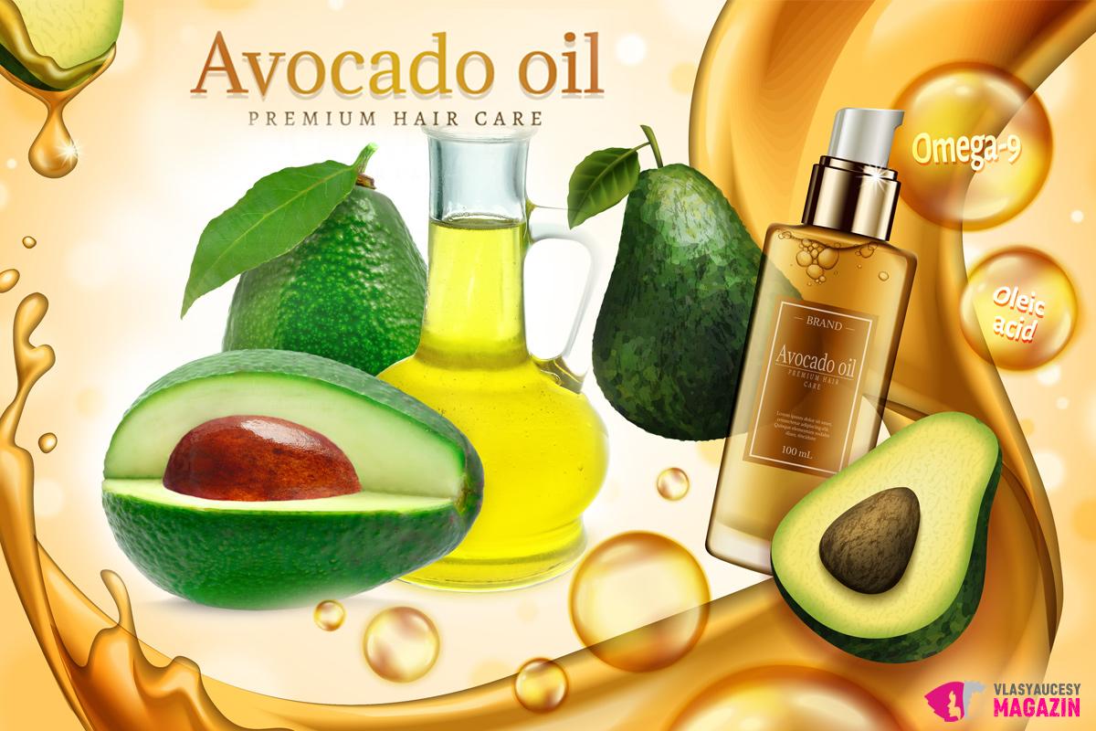 Vlasům olej z avokáda dodá lesk, pomůže rovněž zplihlým vlasům bez objemu a života, ale i suchým vlasům s roztřepenými konečky.