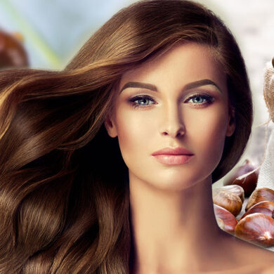 Jedlé kaštany jsou ideální zdravá výživa pro vlasy. Pomáhají proti vypadávání vlasů. vlasy jsou díky nim lesklé a rychle rostou.