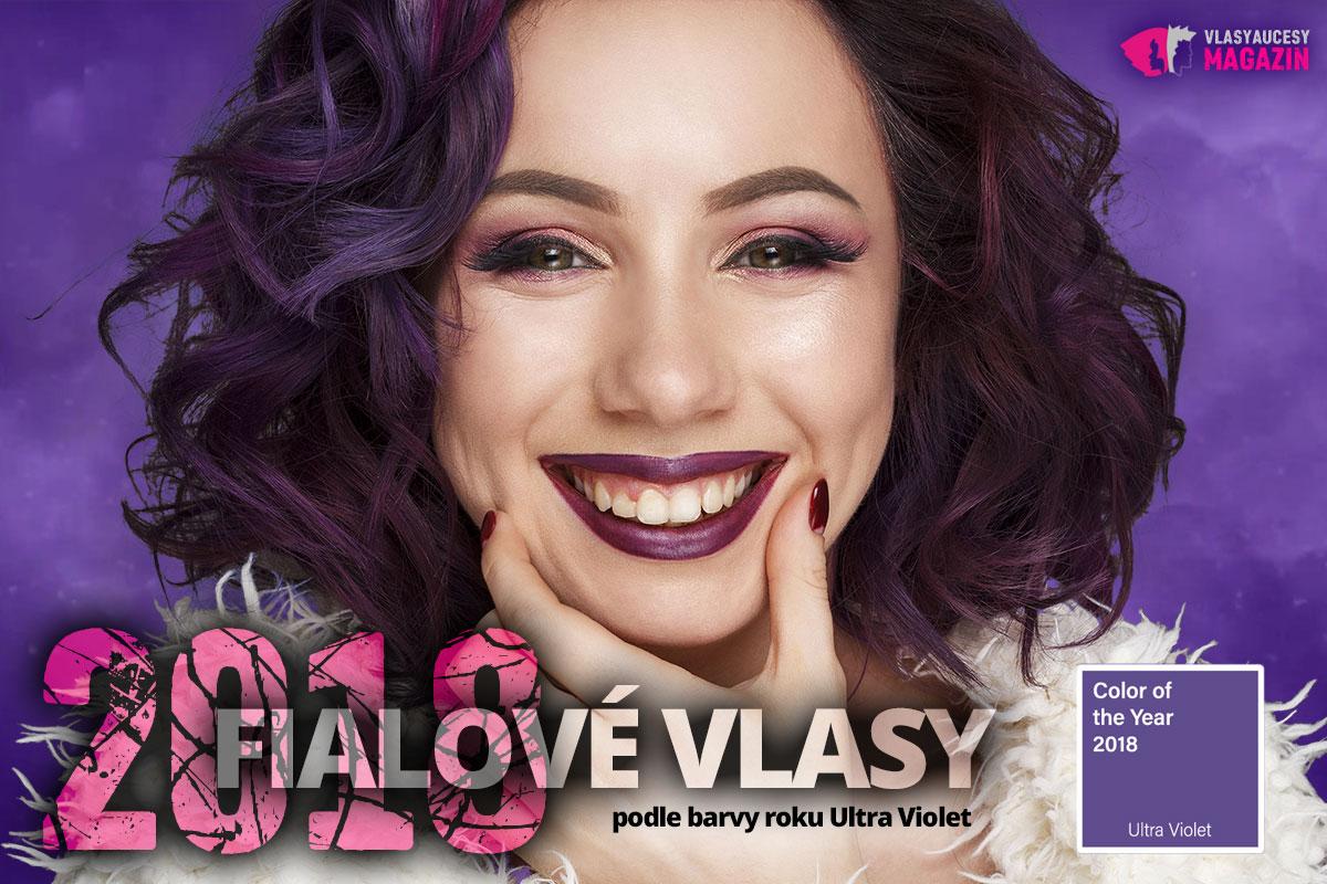 Fialové vlasy 2018 Ultra Violet.