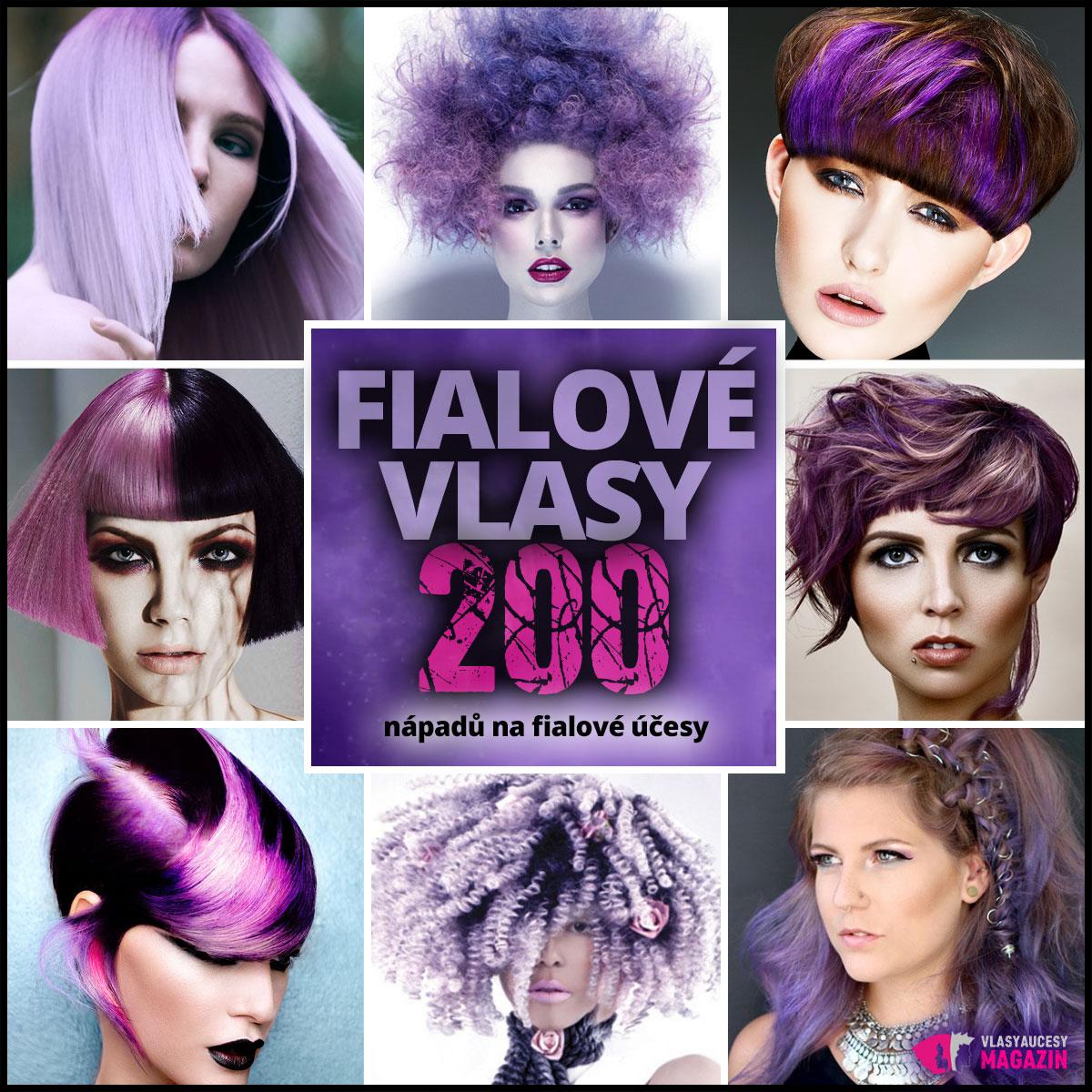 Fialové vlasy jsou novým trendem. Máme pro vás největší galerii s nápady, jak si obarvit vlasy na fialovo.