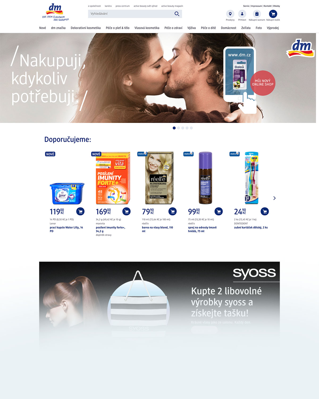 DM eshop nabízí vlasovou kosmetiku známých značek i vlasovou kosmetiku maloobchodních značek DM drogerie, jako je například Balea.