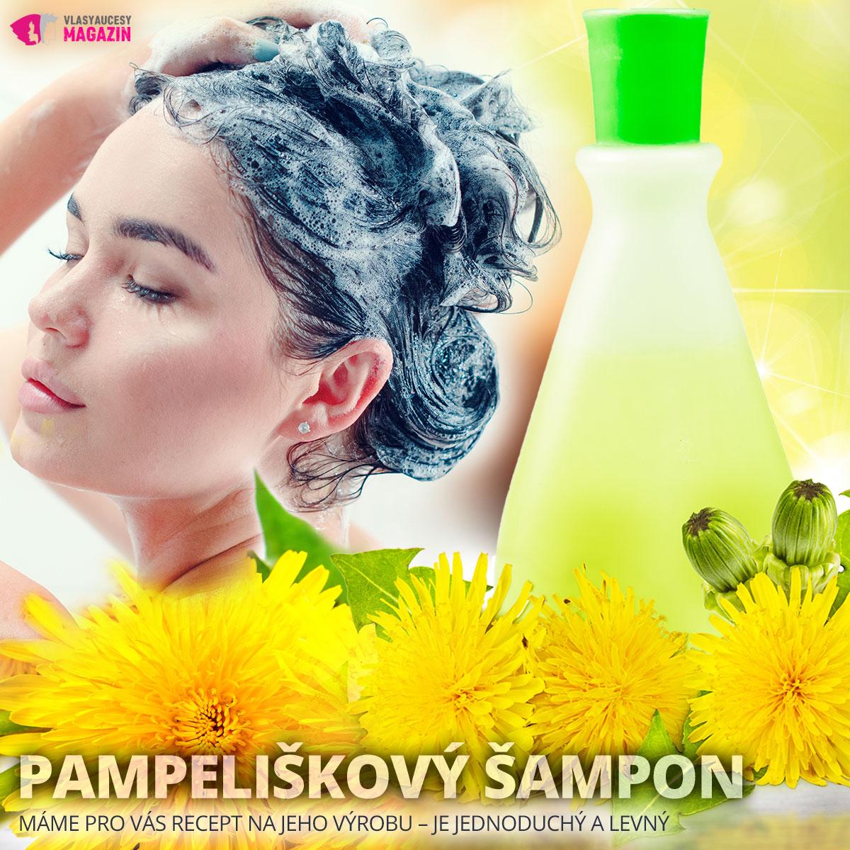 Pampeliškový šampon – recept na jeho výrobu je jednoduchý a levný.