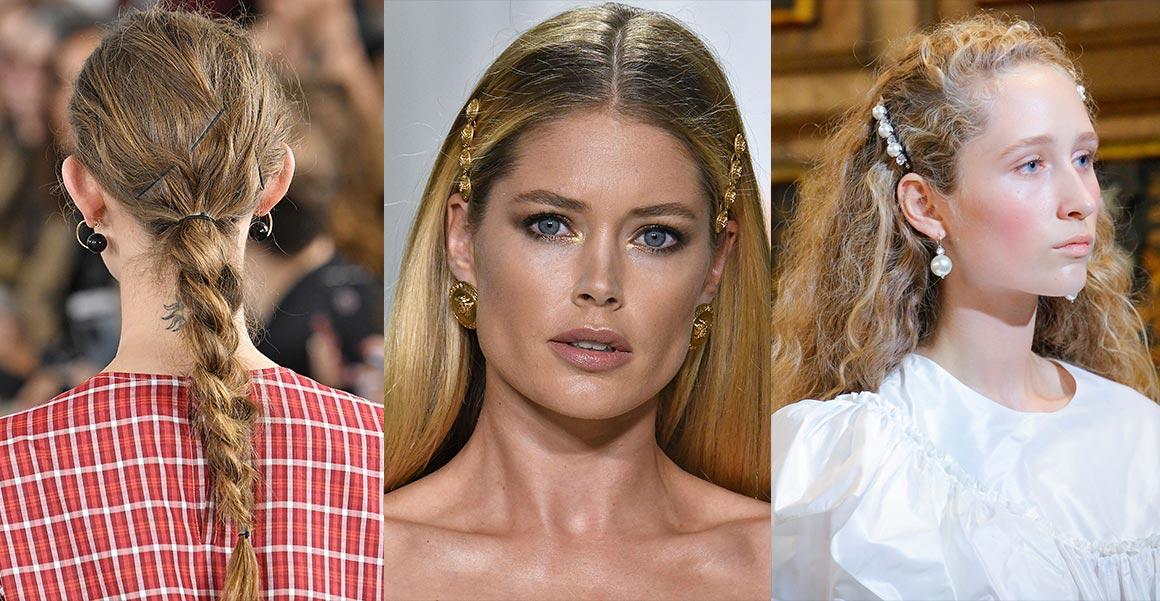 Účesy pro jaro a léto 2018 se sponkami se objevily v kolekcích Ports 1961, Simone Rocha, Versace (viz. obrázek). Nechyběly však ani v kolekcích SS 2018 Dolce&Gabanna, Christian Dior, Peter Pilotto nebo J. W. Anderon.
