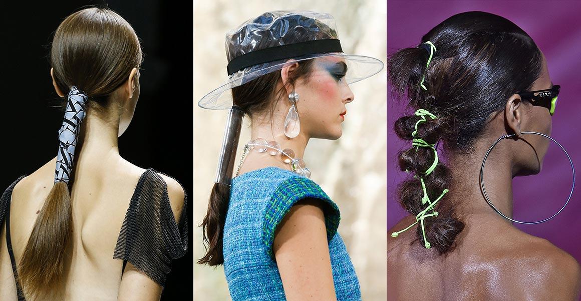 Zabalené ohony brouzdaly po molu na módních přehlídkách Lanvin, Chanel i Fenty x Puma by Rihanna.